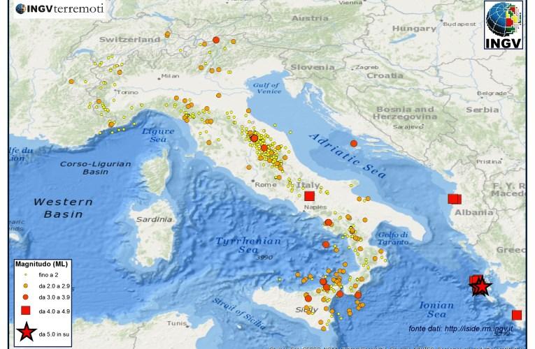 Italia sismica: i terremoti di gennaio 2014