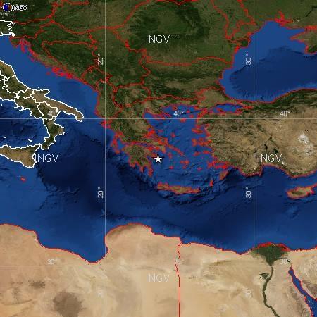 Evento sismico M 5.6 in Grecia, 04 aprile 2014