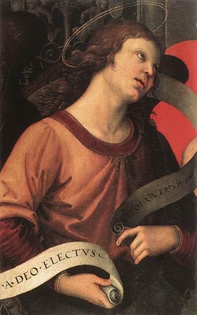 Il frammento originale della Pala Baronci, dipinta da Raffello (1483-1520), conservato presso il museo Louvre di Parigi (fonte: http://en.wikipedia.org/wiki/Baronci_Altarpiece).