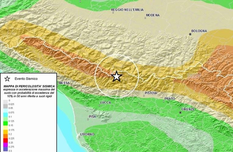 Terremoto tra province di Pistoia, Modena e Lucca, 7 settembre ore 12.45: approfondimento