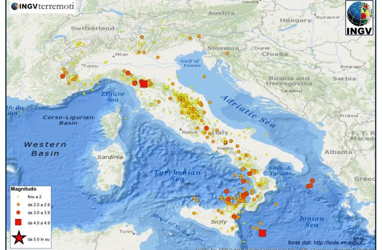 Italia sismica: i terremoti di settembre 2014
