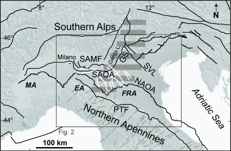 Faglie sismogenetiche cieche in Pianura Padana