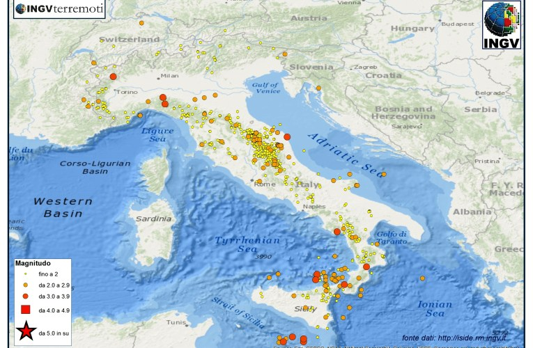 Italia sismica: i terremoti di novembre 2014