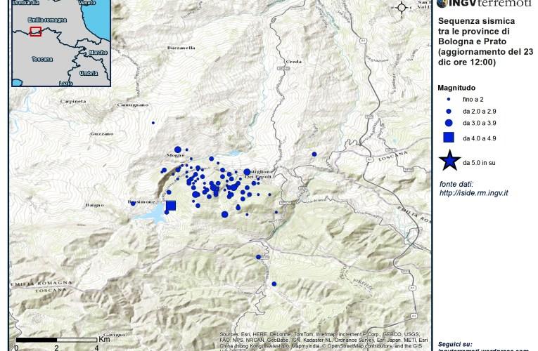 Eventi sismici tra le province di Bologna e Prato: aggiornamento e approfondimento