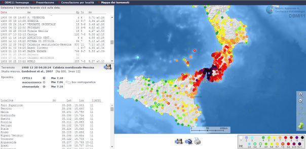 Ricerca per terremoto (http://emidius.mi.ingv.it/DBMI11/query_eq/).