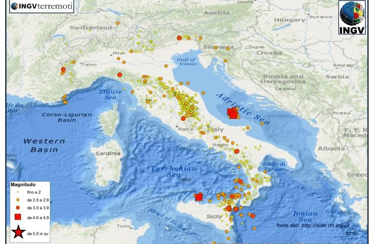 Italia sismica: i terremoti di novembre e dicembre 2015