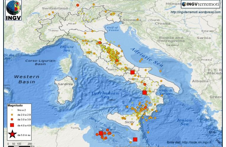 Italia sismica: i terremoti di gennaio 2016