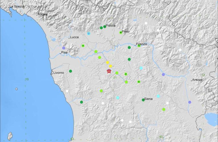 Evento sismico M3.9 in provincia di Firenze, 25 ottobre: approfondimento