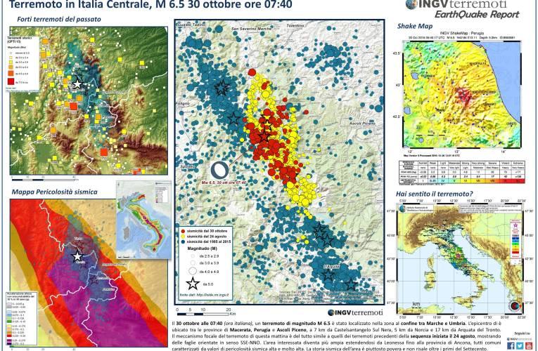 Sequenza sismica in Italia centrale: aggiornamento, 31 ottobre ore 11.00