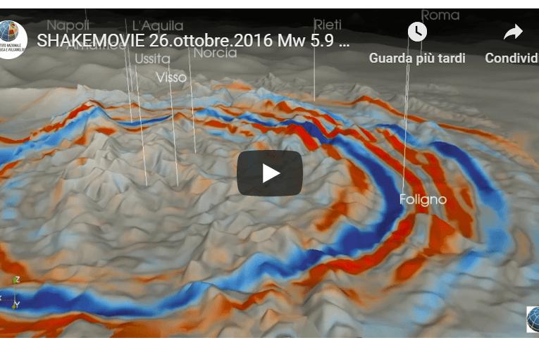 SHAKEMOVIE: Propagazione delle onde sismiche del terremoto del 26 ottobre 2016 ore 21:18 (M 5.9)