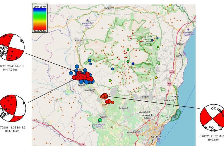Aggiornamento dell'attività sismica del versante sud-occidentale dell'Etna tra il 19 e il 26 agosto 2017