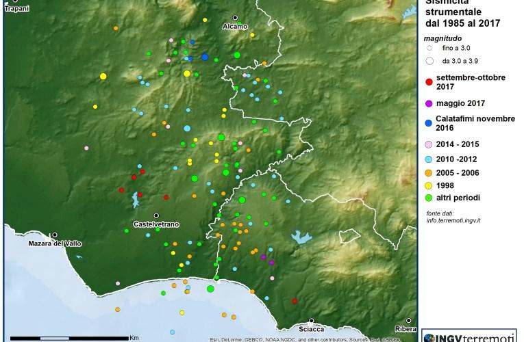 Terremoti in provincia di Trapani, ottobre 2017