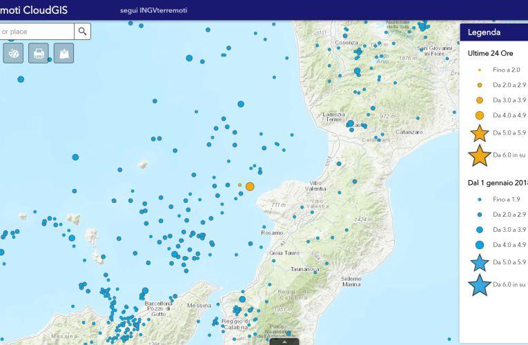 Evento sismico lungo la costa calabra sud occidentale, Ml 4.4, 14 luglio 2018