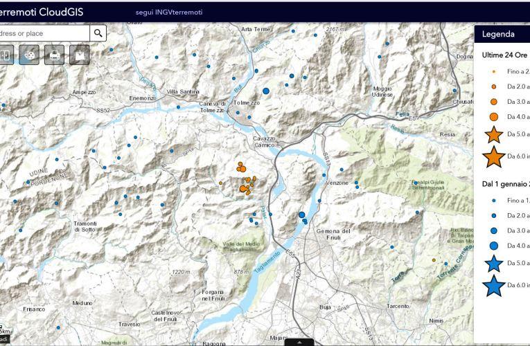 Eventi sismici in provincia di Udine, 11 agosto 2018