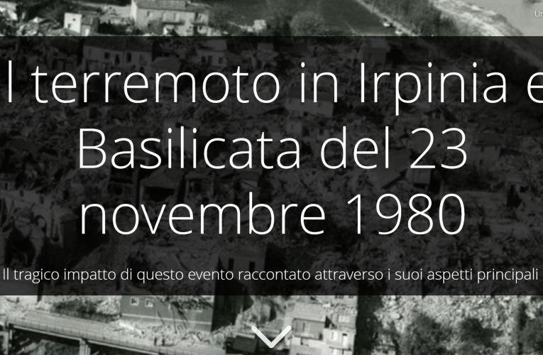 Una story map sul terremoto in Irpinia e Basilicata del 23 novembre 1980