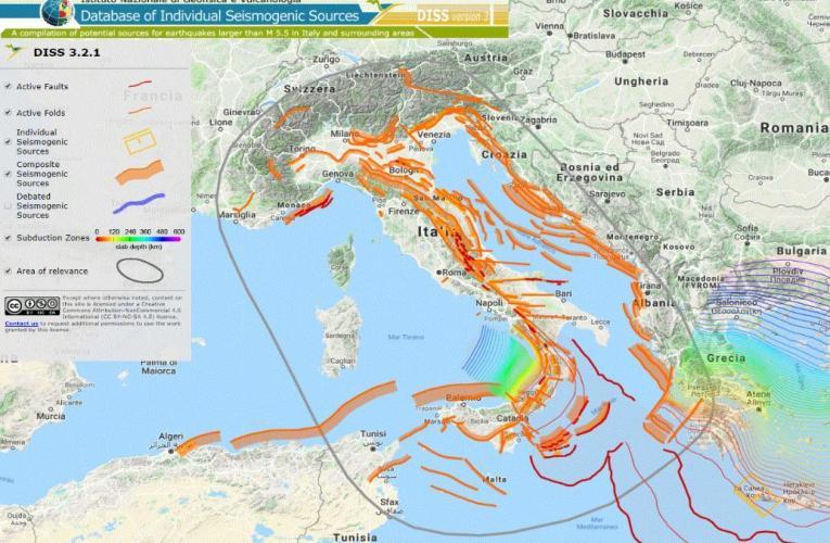 DISS, ovvero il Database delle sorgenti sismogenetiche italiane