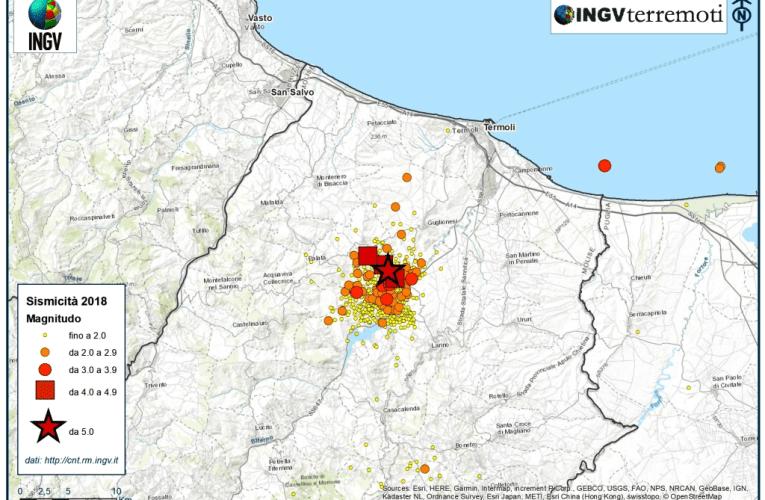Analisi di dettaglio della sequenza sismica del Molise di agosto-settembre 2018