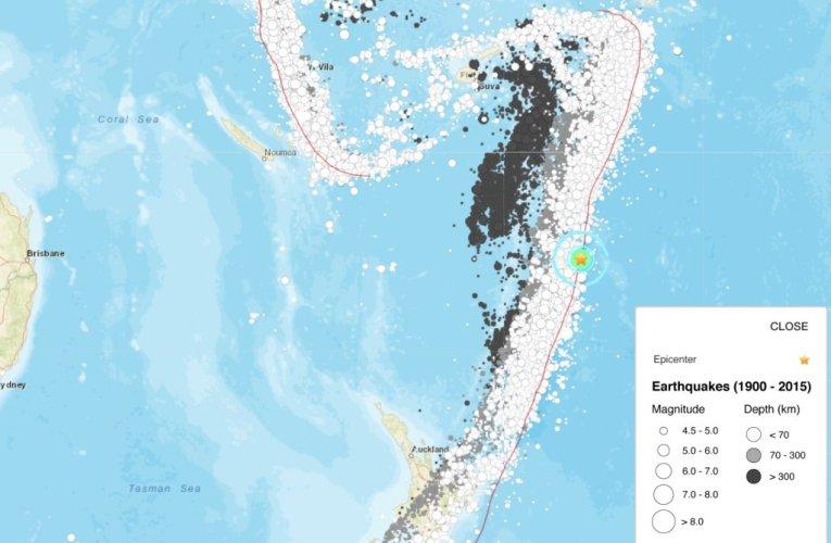 Terremoto M6.5 nel Pacifico