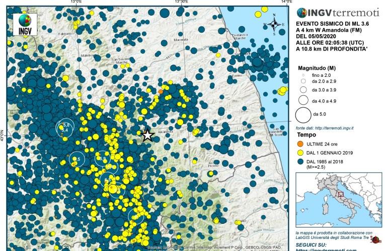 Sequenza sismica in provincia di Fermo, 4-10 maggio 2020