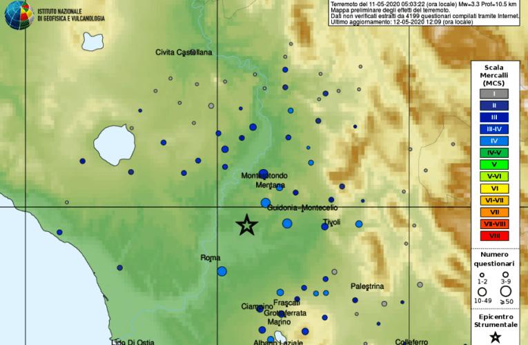 Aggiornamento e approfondimento sul terremoto in provincia di Roma, M 3.3, 11 maggio 2020