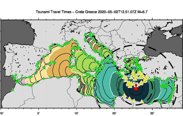 Terremoto al largo di Creta, 2 maggio ore 14:51, con allerta tsunami locale