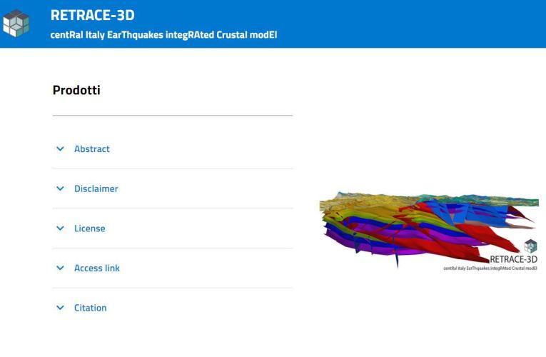 RETRACE-3D, una ricostruzione geologica tridimensionale dell'area colpita dal terremoto dell'Italia Centrale