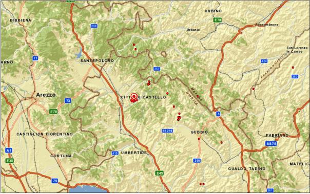 Evento Sismico A Città Di Castello Pg M3 6 20 Aprile