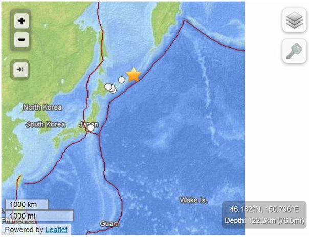 Terremoto Alle Isole Kurili Russia Del 19 Aprile 2013 M