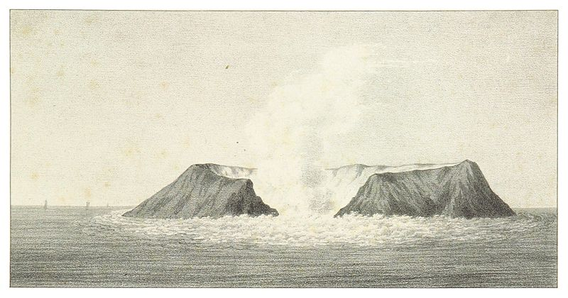 Figura 2_SMYTHE(1832)_29_VIEWS_OF_THE_NEW_VOLCANIC_ISLAND_OF_FERNANDEA,_AS_SEEN_ON_THE_6TH_AUGUST_1831,_DURING_THE_INTERVAL_OF_ERUPTIONS