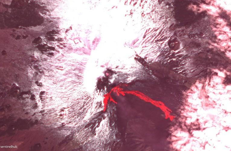 Etna, la colata lavica del 18 febbraio 2021 da satellite