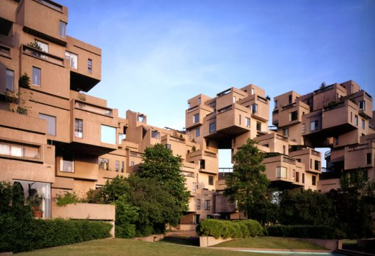 Habitat 67 World Expo Moshe Saf Affordable Housing Prefab