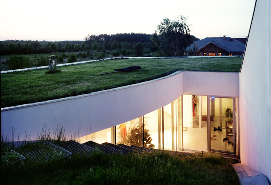 Modern OUTrial House Sheltered Beneath a Grassy Hill  Inhabitat  Green Design Innovation