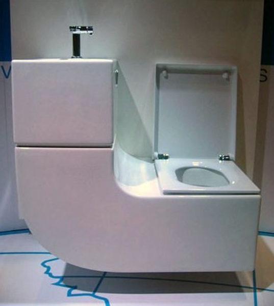 sleek sink toilet combo is an all in
