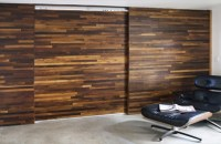 Cliff Spencer Wine Oak Sliding Barn Door & Wall ...