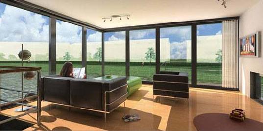 Waterstudio, Waterstudio.nl, Koen Olthius, amphibious house, houseboat, floating house, flood resistant houses, interior