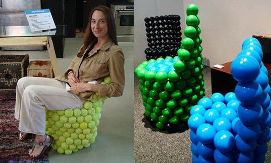 ball chair for kids green living room chairs hugh hayden s funature tennis inhabitots furniture