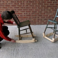 Rocking Chair Cradle Swing Gray Baby S By Martin Price Transforms Into Two Chairs Inhabitots