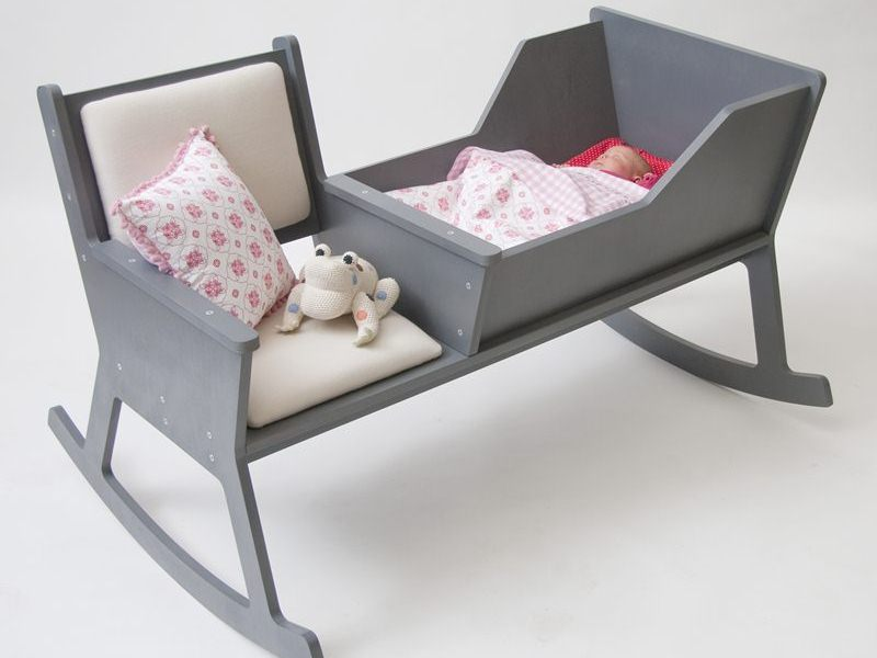 rocking chair baby side with arms ontwerpduo rockid resting space lets parents and rock together eco decor