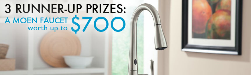 moen kitchen used table upgrade contest prizes makeover motion