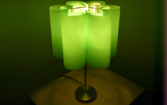 Water Bottle Lampshades Turn Dumpster Plastic into
