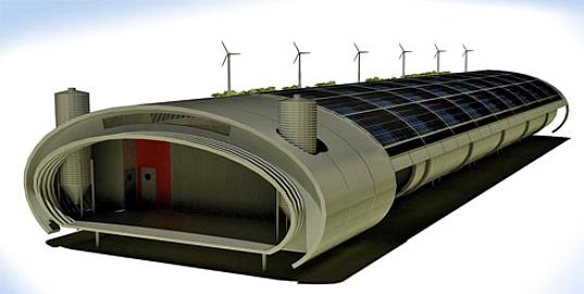 chicken coop, chickens, coop, prefabricated chicken coop, prefabricated construction, prefab, israel, peleg/burshtein, wind turbines, solar panels, renewable energy, ventilation, eco design, green design, sustainable building