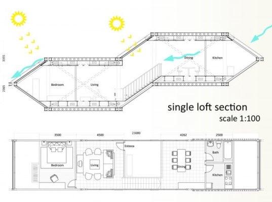 Futuristic Vertical City Holds Plug-In Hexagonal Housing Units