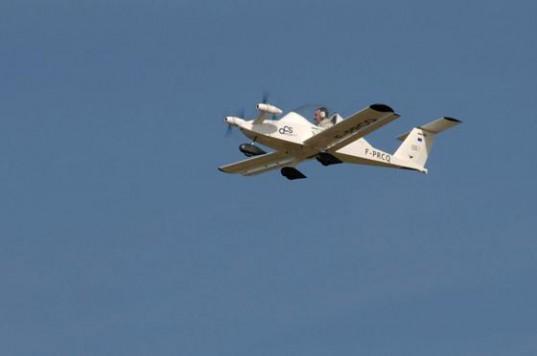 The Cri-Cri, the world's smallest electric plane, takes flight