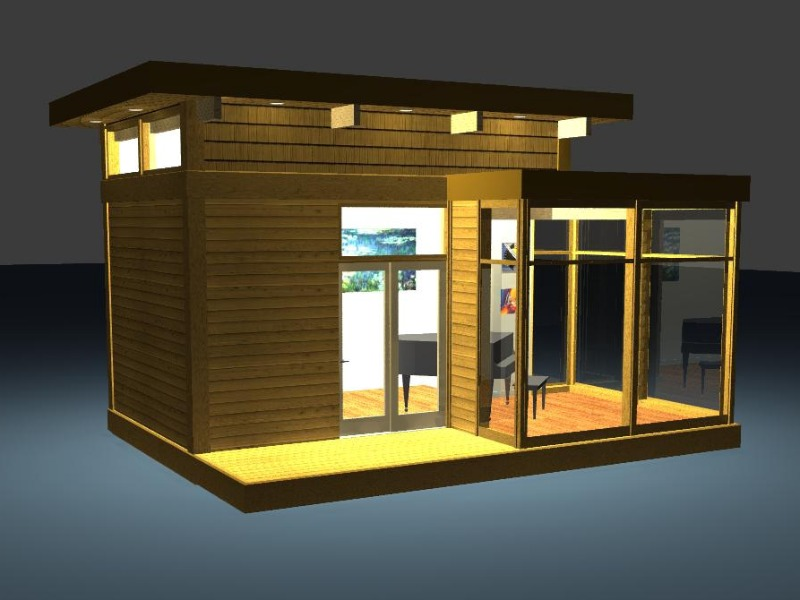 EcoFriendly Modern Studio Kit by Lindal Cedar Homes