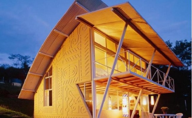 Brazilian Home Showcases Light Art And Salvaged Materials