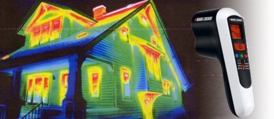 Infrared House Scan and Spot Radiomater, Black and Decker, insulation, assessing your insulation needs, finding thermal leaks, Eric Corey Freed, 5 Tips, Green Your Home, Organic Architect Eric Corey Freed, organicARCHITECT, Organic Architecture, LEED, Greenbuilding, Green building, green design, Coachella Valley, Greenbuilding for dummies, insulation