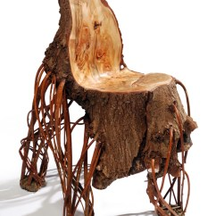 Funky Wooden Chairs Purple Velvet High Back Chair Upside Down Is Just As Much Sitting Fun A Real Tree Trunk