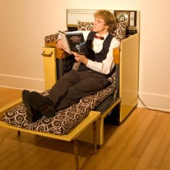 The Dump Sofa Table Leather Care Products Recycled Oven Transforms Into A Comfy Lounge Chair ...