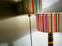 Lamp Party: A Rainbow Colored Light Made of Recycled
