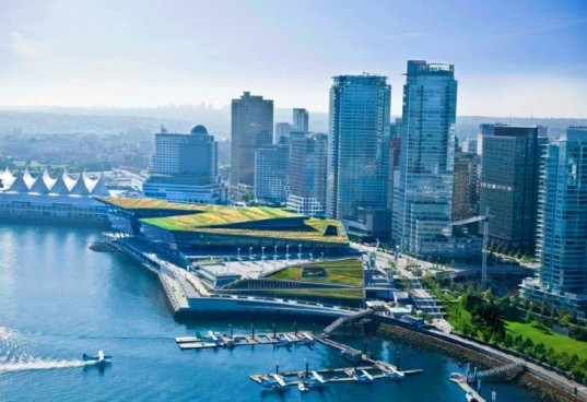 LEED Platinum, Vancouver Convention Centre, LMN Architects, Vancouver, green roof, AIA award, COTE Top Ten Green
